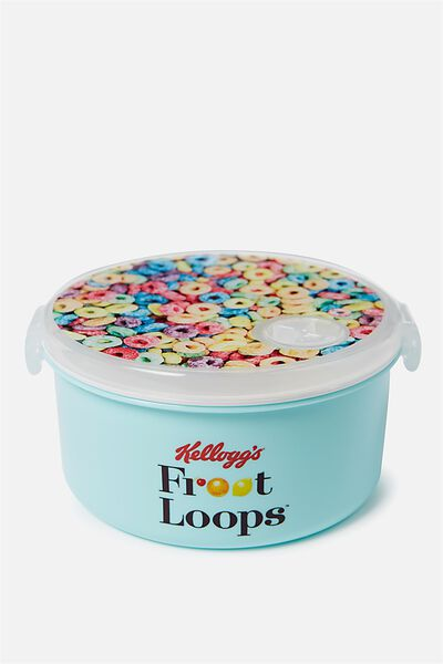 Round Lunch Container, LCN KELLOGGS FROOT LOOPS