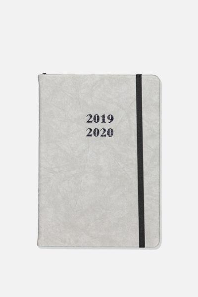2019 20 A5 Weekly Buffalo Diary, GREY
