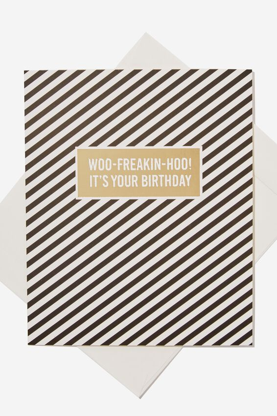 Nice Birthday Card, STRIPE WOO