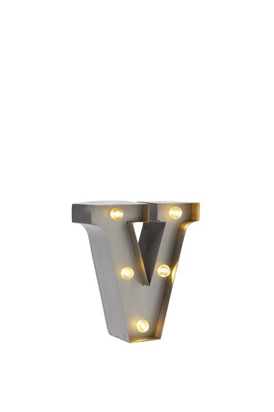 """Mini Marquee Letter Lights 3.9"""", SILVER V"""