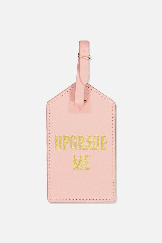 Luggage Tag, PINK UPGRADE ME