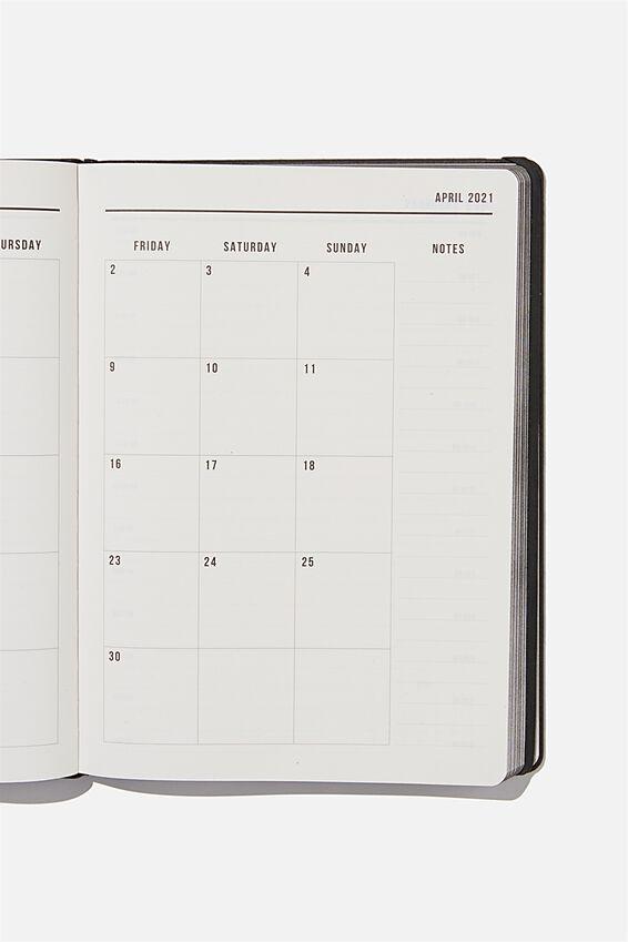 2021 A4 Daily Buffalo Diary, JET BLACK