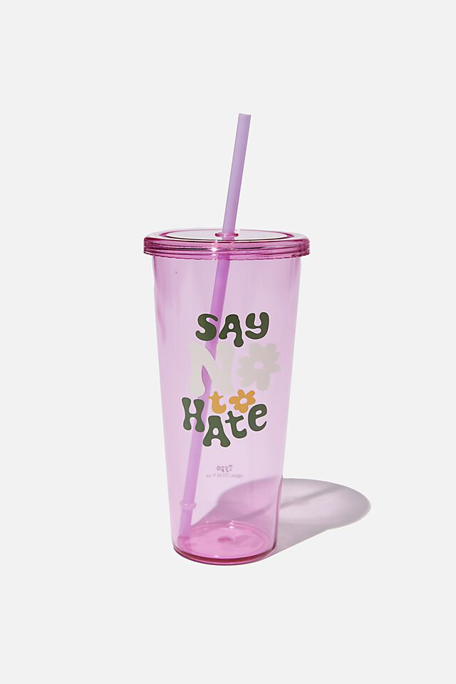 Sipper Smoothie Cup, SAY NO TO HATE