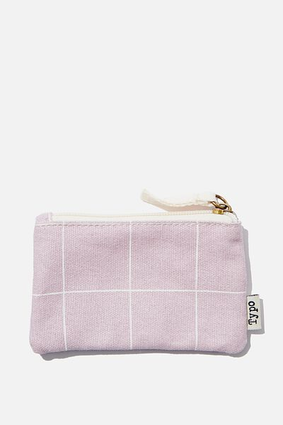 Coin Purse, HEATHER GRID
