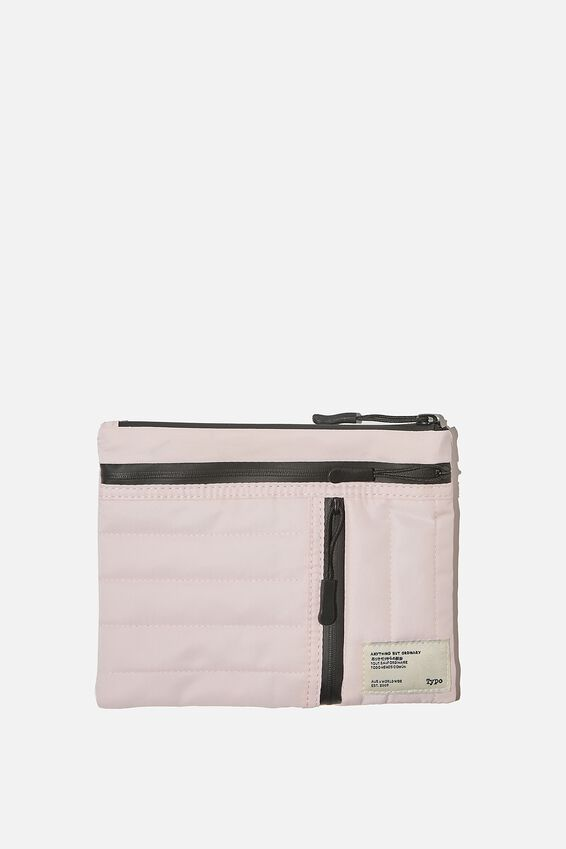 Utility Pencil Case, PALE PINK AND BLACK