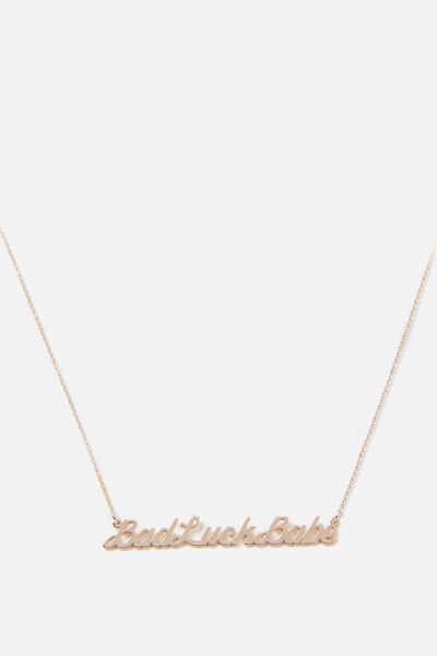 Novelty Necklace, BAD LUCK BABE