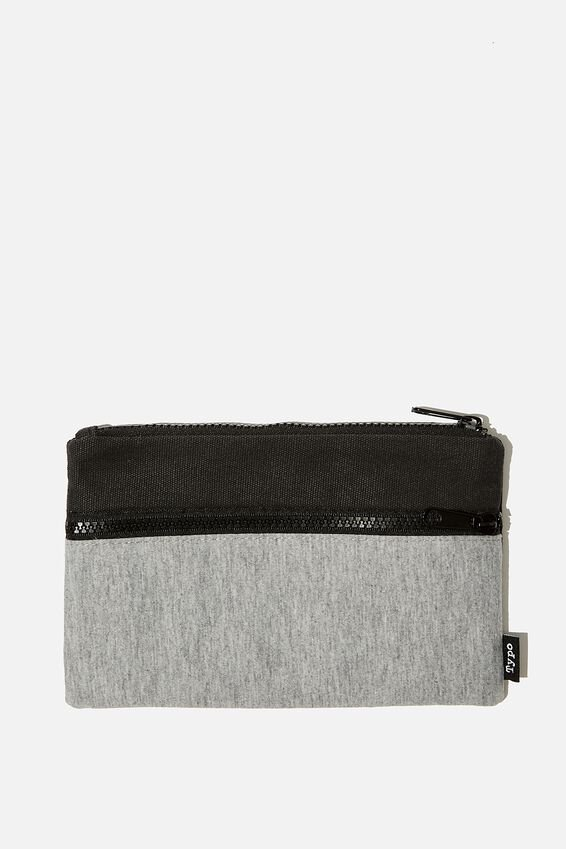 Archer Pencil Case, GREY MARLE