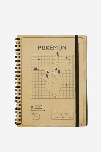 A5 Spinout Notebook Recycled, LCN POK POKEMON PIKACHU
