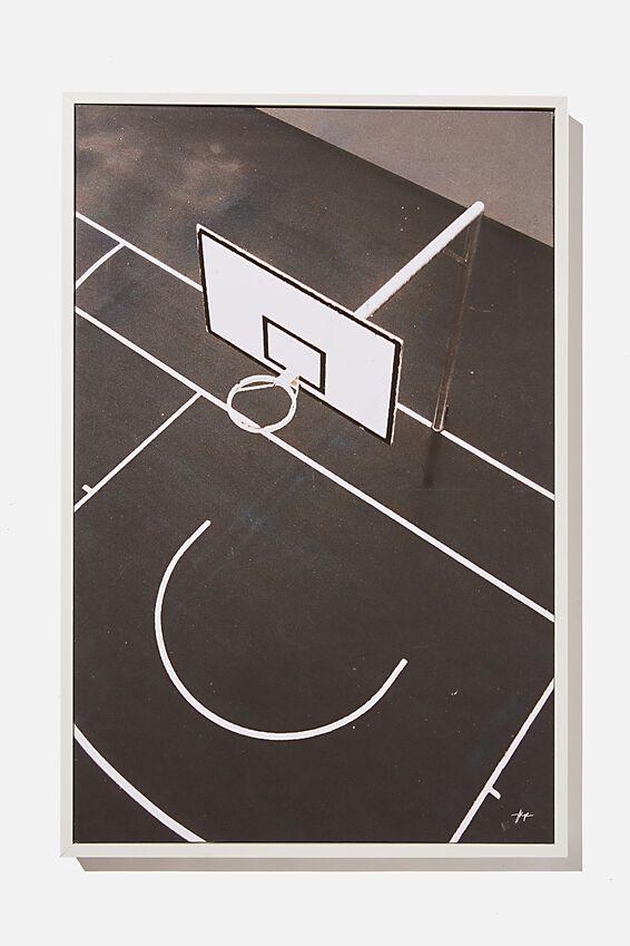 40 X 60 Canvas Art, BASKETBALL COURT