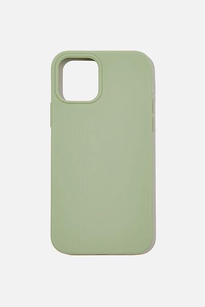 Slimline Recycled Phone Case Iphone 12, 12 Pro, GUM LEAF