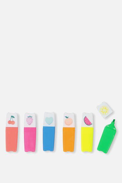 Mini Highlighter Pack, FRUITS