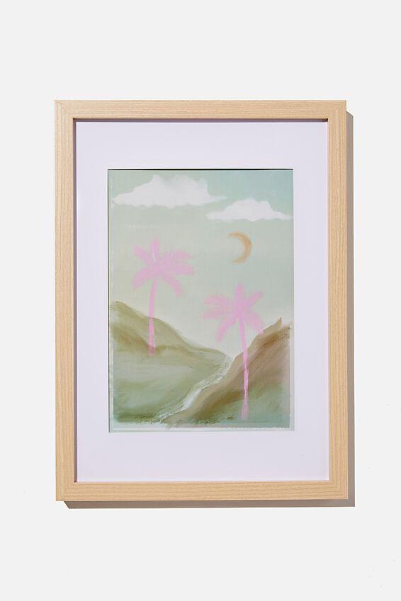 A4 Framed Print, MOON PALMS
