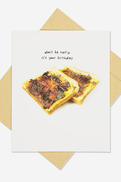 Funny Birthday Card, SALTY BIRTHDAY