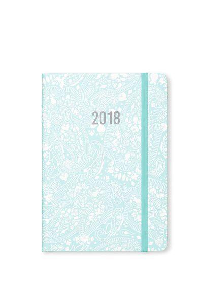 2018 Medium Weekly Buffalo Planner, BLUE LACE