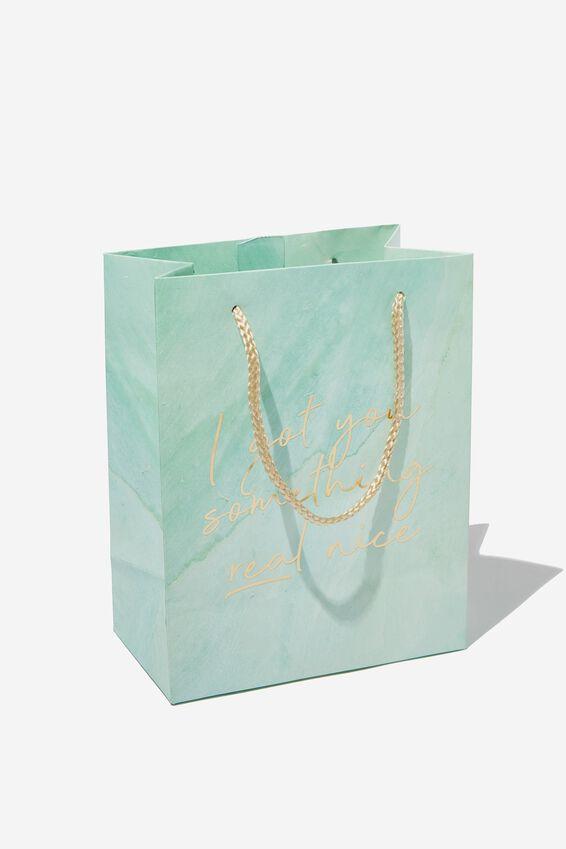 Small Stuff It Gift Bag, AQUA I GOT YOU WATERCOLOUR