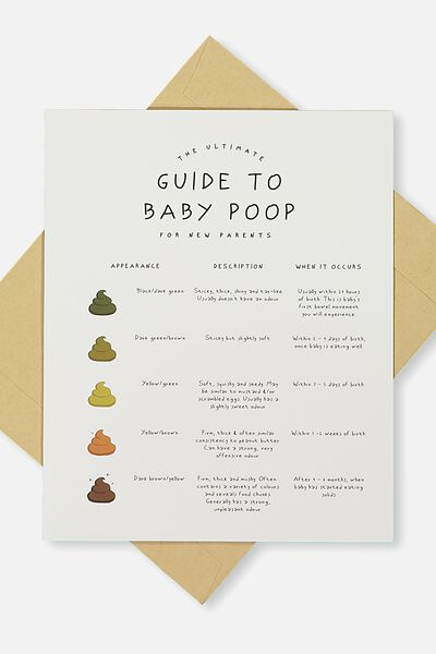 Baby Card, GUIDE TO BABY POOP!