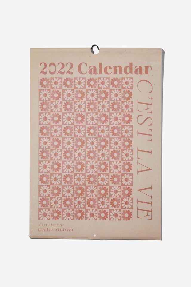 2022 Art Series Calendar, FLORAL