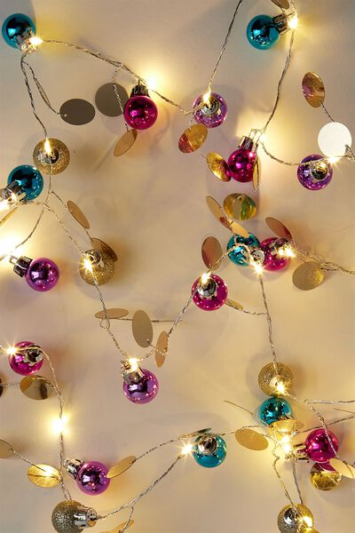 Premium Twinkle Lights, BRIGHT BAUBLE SEQUIN LIGHTS