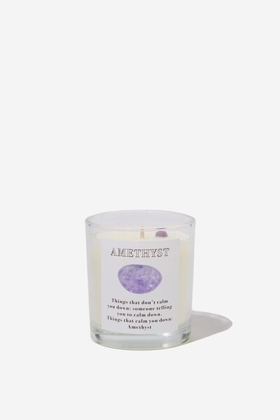 Reveal Candle, AMETHYST CRYSTAL