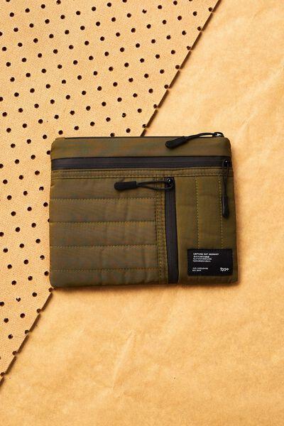 Utility Pencil Case, KHAKI & ORANGE