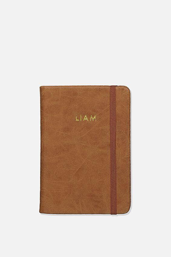 Personalised A6 Buffalo Journal, MID TAN