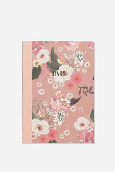 A5 Understated Undated Diary, BLUSH/TERRAZZO