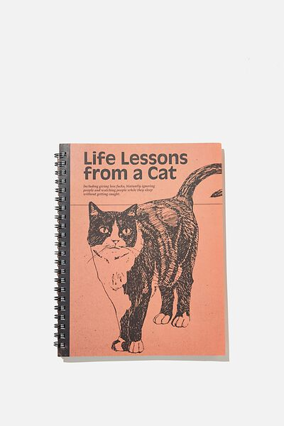 A4 Campus Notebook Recycled, LIFE LESSONS