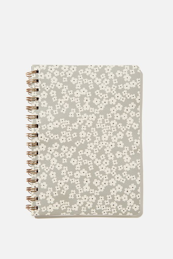 A5 Dot Daily Scribe Notebook, CHERRY BLOSSOM COOL GREY