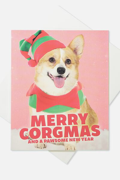 2018 Christmas Card, MERRY CORGMAS