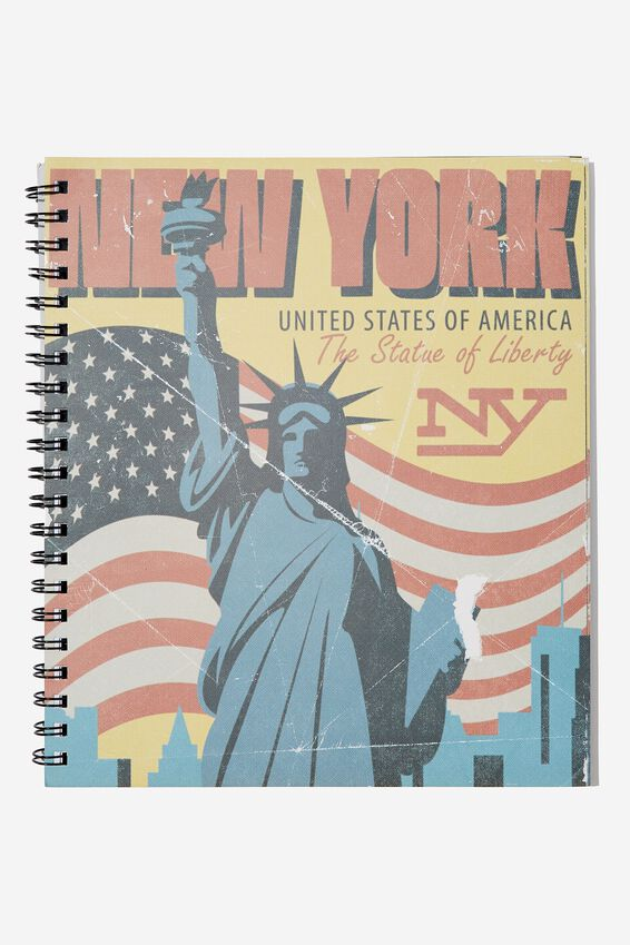 College Ruled Campus Notebook - V, NEW YORK LIBERTY