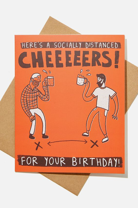 Nice Birthday Card, SOCIALLY DISTANCED CHEERS!