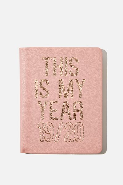 2019/20 A5 Hidden Spiral Diary, BLUSH THIS IS MY YEAR