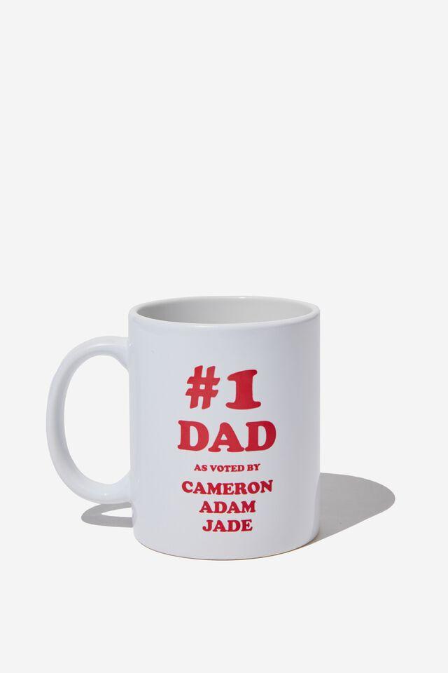 Personalised Mug, #1 DAD