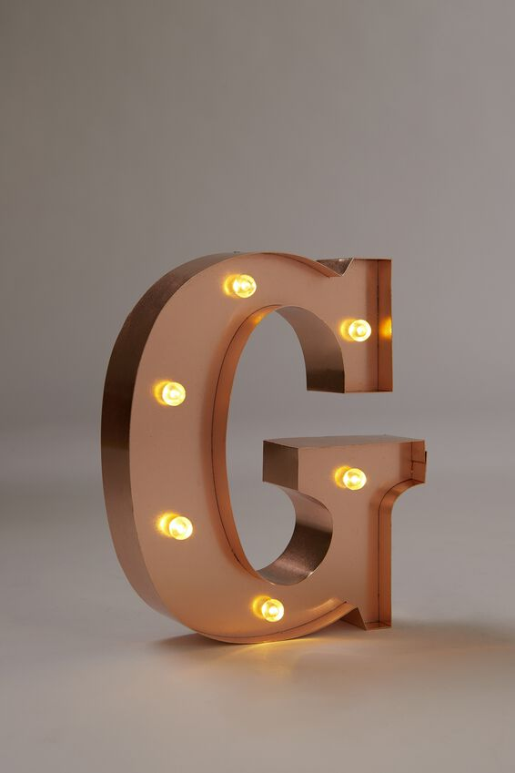 Marquee Letter Lights Premium 6.3inch Midi, ROSE GOLD G