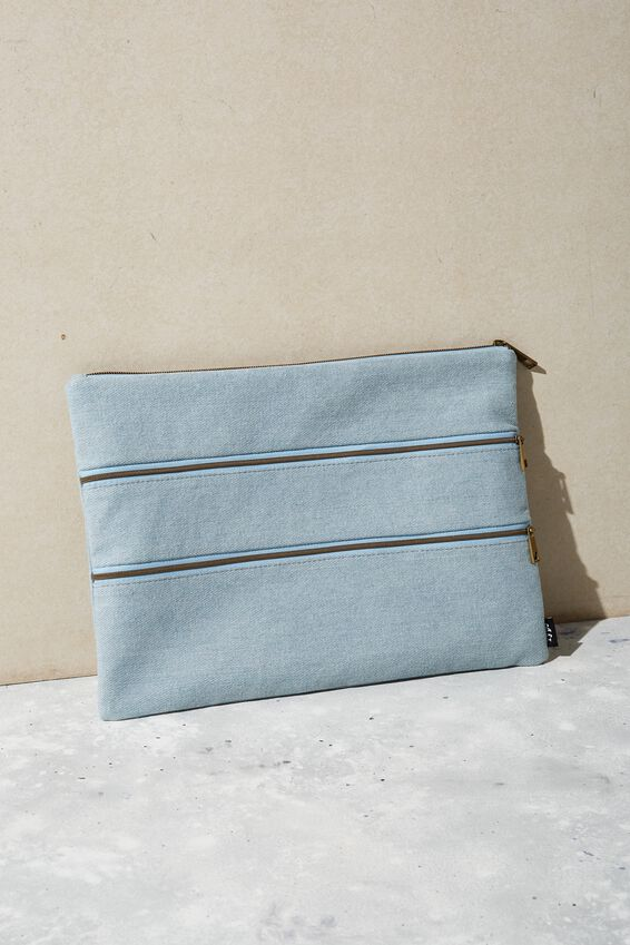Keep It Together Pencil Case, CHAMBRAY