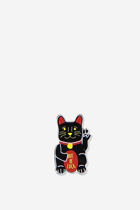 Enamel Stickers, LUCKY CAT