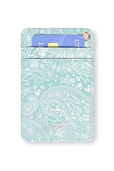 Printed Card Holder, BLUE LACE