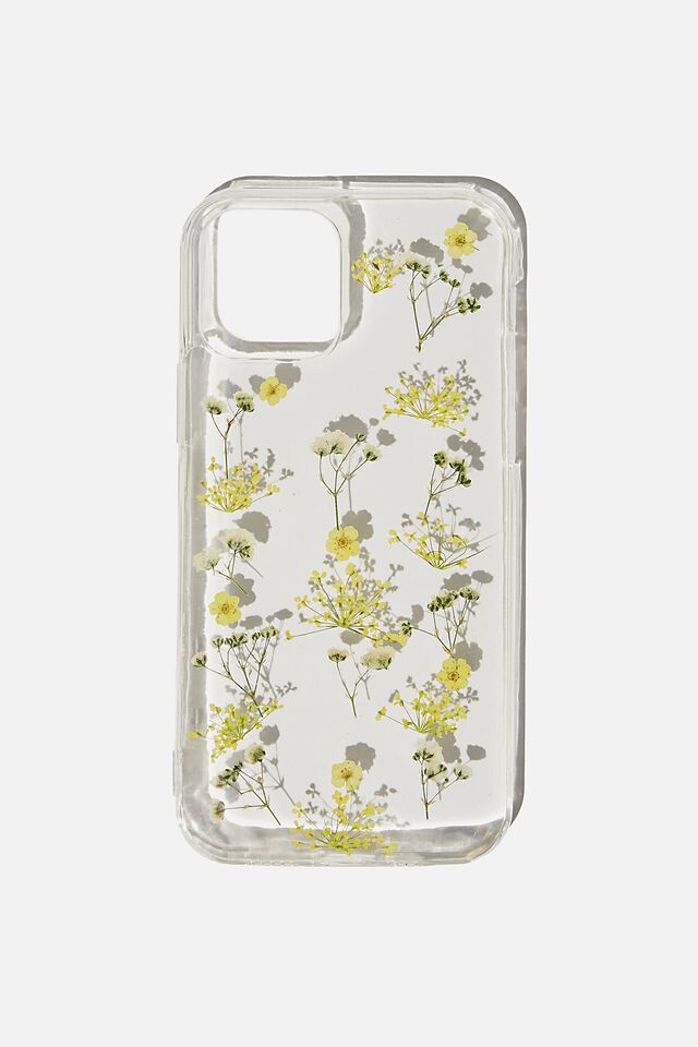 Protective Phone Case Iphone 12, 12 Pro, TRAPPED MICRO FLOWERS