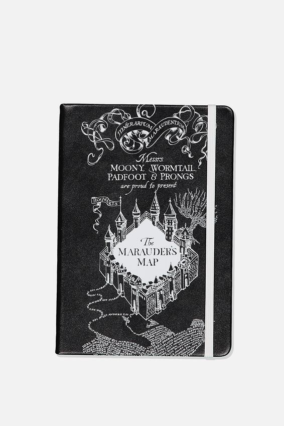 A5 Harry Potter Buffalo Journal, LCN HARRY POTTER RED MARAUDERS MAP