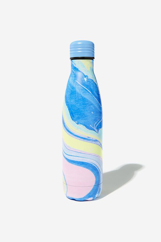 Metal Drink Bottle, COLOURED MARBLE