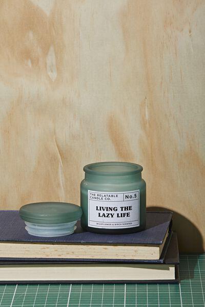 Mini Glass Candle, LAZY LIFE