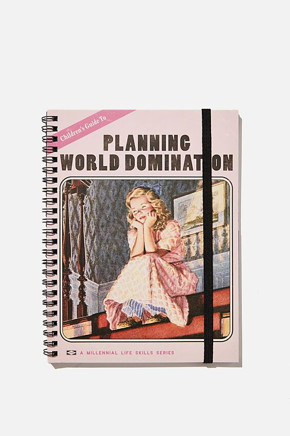 Small Spinout Notebook, PLANNING WORLD DOMINATION BOOK