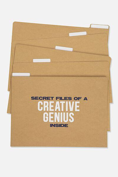 Manila Folders 5Pk, CREATIVE GENIUS