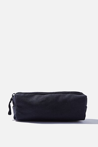Bailey Pencil Case, BLACK CANVAS