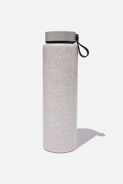 On The Move Metal Drink Bottle 1L, COOL GREY MEADOW DITSY