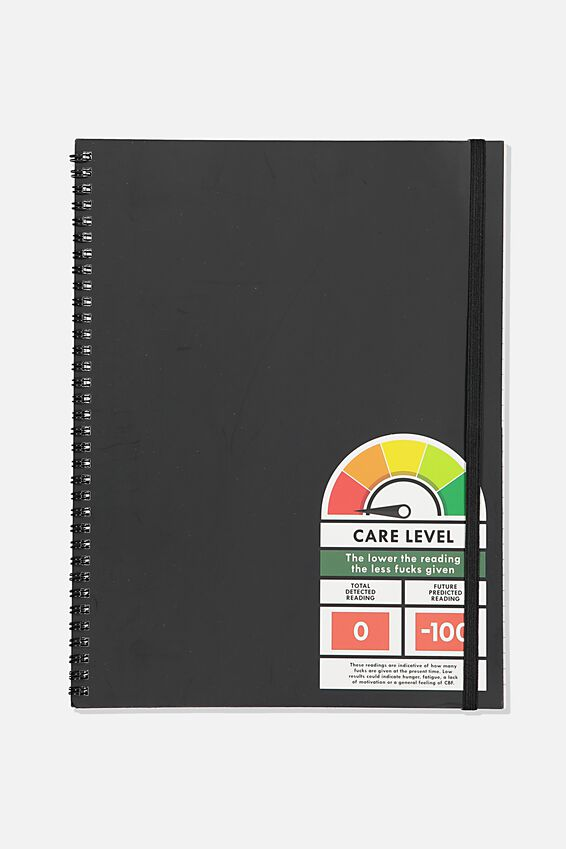 A4 Spinout Notebook Recycled, CARE LEVEL!!