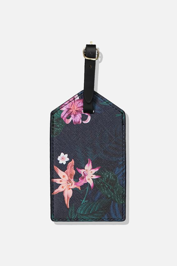 Luggage Tag, JUNGLE FLORAL
