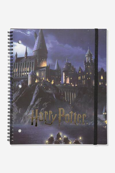 College Ruled Spinout Notebook V, LCN HARRY POTTER HOGWARTS