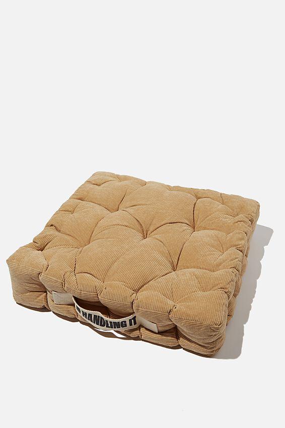 Floor Cushion, DRIFTWOOD CORDUROY
