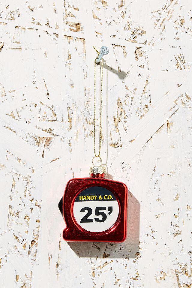 Small Glass Christmas Ornament, MEASURING TAPE